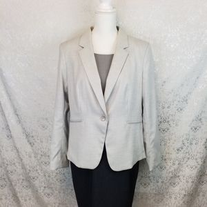 H&M Light gray long sleeved lined blazer size Large